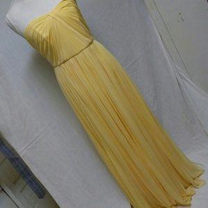 David Bridal canary style your way 6 tie dress